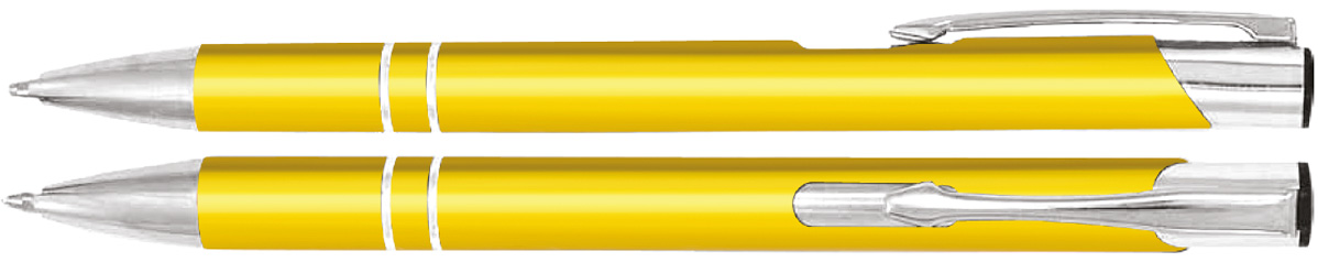 Długopisy metalowe cosmo - zdjęcie przód i bok
