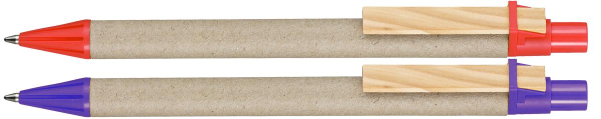 Długopis z papieru EKO Carton - zdjęcie przód i bok